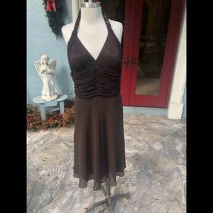 NWT R & M Richards Brown Dress w/glitter.  Sz 14